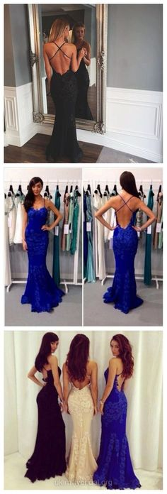 Mermaid Prom Dresses Sweetheart, Long Party Dresses Lace, 2018 Formal Evening Dresses Blue Ruffles