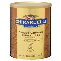 Ghirardelli sweet ground hot chocolate