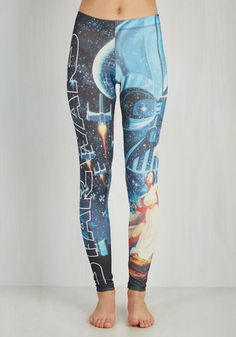 Fashionable Fandom Leggings - Tan / Cream, Black, Grey, White, Novelty Print, Print, Casual, Vintage Inspired, 70s, 80s, 90s, Sci-fi, Skinny, Fall, Long, Knit, Best, Mid-Rise, Full length, Non-Denim, Quirky, Gifts2015
