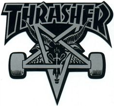 Thrasher Skateboard Stickers and Accessories