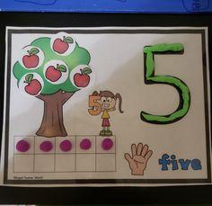 Back to School Ten Frame Number Mats by Bilingual Teacher World Preschool Learning Activities, Preschool Lessons, Kindergarten Classroom, Toddler Activities, Preschool Activities, Kids Learning, Number Activities, Math Games, Elementary Math