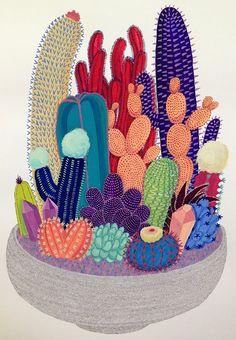 Crystal Cactus by Melinda Tracy Boyce