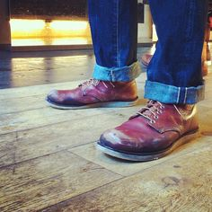 Round Toe 6  Oro-russet beautiful broken in Red Wings #redwing #redwings #redwingshoes #boots #amsterdam