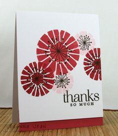 Pti: Emobroidered Blooms & Funky Florals, Inks: Su! Raspberry Ripple, Primrose Petals, Pink Pirouette and Early Espresso  cs: Primrose Petals