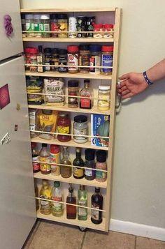 Dica de organização para a cozinha – Faça você mesmo – Carrinho porta temperos                                                                                                                                                     Mais