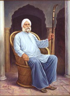 Malwe Da Bapu (The Patriarch) by Sikh artist Jarnail Singh. Visit his website at: http://jarnailarts.com/