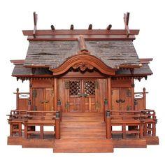 Meiji Period Shinto Shrine Japan, circa1900. Not a dollhouse, but a miniature shrine.