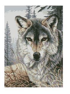 Wolf in the Grass * Kreuzstich