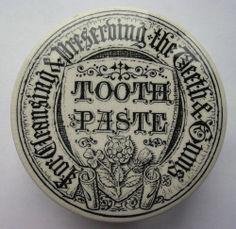 Ornate Gothic style Tooth Paste pot lid + base / crock jar c1900-10