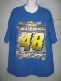 2010 Jimmie Johnson 48 Champion T-Shirt Nascar Sprint Cup Series XL  #CL63 #ChaseAuthentics #GraphicTee