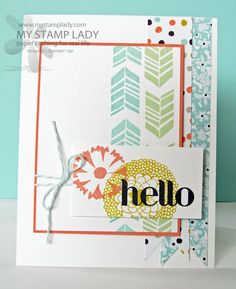 A Friendly Petal Parade Hello by cmstamps - Cards and Paper Crafts at Splitcoaststampers