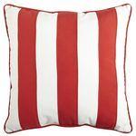 Cabana Stripe Pillow - Tomato