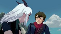 The way he looks at her😁😁😁😁😘😊☺️ Rayla Dragon Prince, Prince Dragon, Dragon Princess, Rayla X Callum, Cartoon Ships, The Way He Looks, Aang, Animation Series, Best Tv Shows