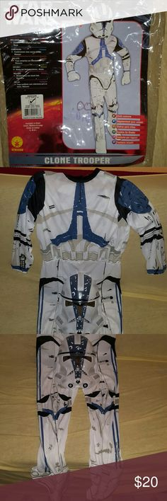 STAR WARS CLONE TROOPER Brand new STAR WARS CLONE TROOPER Halloween Costume for a child size Medium ages between 5-6. Costumes Halloween