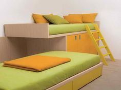 Space Saving Bedrooms Ideas: Space Saving Bedrooms Ideas With Green Bed – Vissbiz
