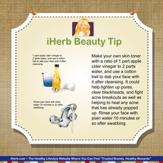 iHerb Beauty Tip:  Apple cider vinegar is an inexpensive and effective way to care for your skin.