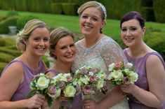 Pretty Vintage Wedding flowers at The Manor, Weston on the Green
