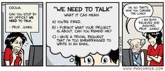 PHD Comics: We need to talk.