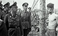 Horace Greasley - PoW Horace Greasley defiantly confronts Heinrich Himmler during an inspection of the camp he was confined in. Greasley also famously escaped from the camp and snuck back in more than 200 times to meet in secret with a local German girl he had fallen in love with.