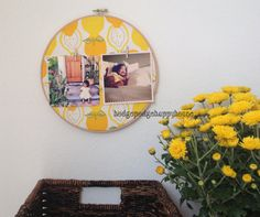 $8.00 embroidery hoop frame. Instagram photos are printed for you and included in purchase. Perfect for hanging in the kitchen