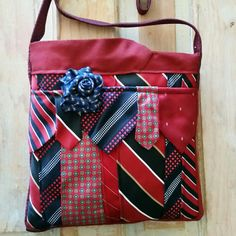 Upcycled tie bags are now available at Desert Pearl Designs. Adding new upcycked tie items each week. Come find yours!