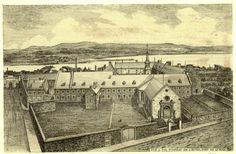 L'Hôtel-Dieu de Québec - The Hotel Dieu Hospital of Quebec, first hospital in New France, founded in 1639