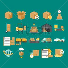 logistic and delivery concept Stock Vector