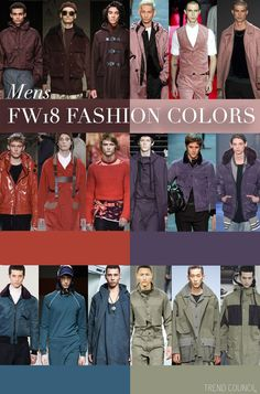 F/W 2018-19 men's colors trends