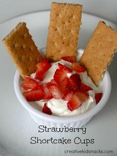 Strawberry Shortcake Cups by Creative Kid Snacks