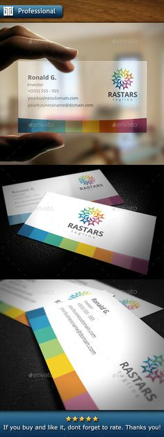 Stars Business Card Template | #businesscard | Download: http://graphicriver.net/item/stars-business-card/10369434?ref=ksioks