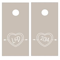 Carved Heart Bride & Groom Initials with Wedding Date Vinyl Decal Set for Cornhole Game Boards Wedding Brunch Reception, Wedding Parties, Wedding Receptions, Reception Ideas, Wedding Decor, Wedding Ideas, New Wedding Games, Corn Hole Game, Post Wedding