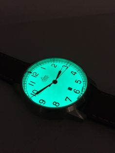 A nice full lume dial on this Laco Valencia Navy Watch. Laco expertise available from us. #Watches #Laco #PageandCooper