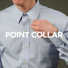 A point collar means business.