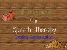 Creating Communicators: Fall Freebies- part 2 - repinned by @PediaStaff – Please Visit  ht.ly/63sNt for all our pediatric therapy pins