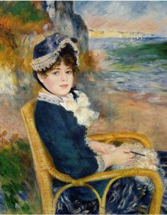 By The Sea Shore Art Print by Pierre August Renoir