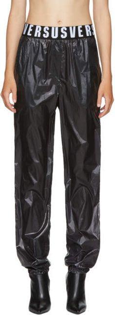 Versus for Women Collection Athletic Pants, Lounge Pants, Black Nylons, Parachute Pants, Track, Fire, Suits, Logo, Fitness
