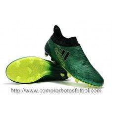 promo code e9976 7333c Botas De Futbol Adidas X 17+ Purespeed FG Verde Negro Core Amarillo Solar  Online Store