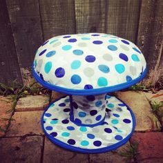 Kids stool made from an electrical reel I made today!  ! #art #upcycled #upcycle #kids #furniture #ashleigholynnart