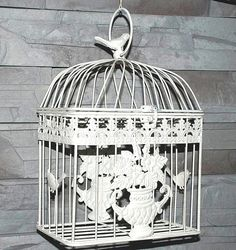vintage bird cage ornament decoration by HandmadeStylishHome