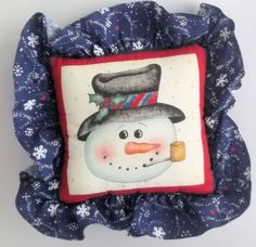 Small Mr Snowman Pillow by PatsysPatchwork on Etsy, $12.00 #pcfteam