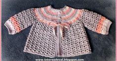 PAP clique aqui Olá!! Fiz esse lindo casaquinho em crochê para bebê seguindo o passo a passo da artesã Márcia Castro em seu blog ofi...