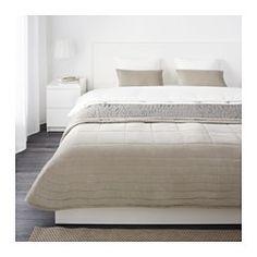 IKEA - PENNINGBLAD, Colcha y 2 fundas almohada, , El terciopelo de algodón es suave y agradable al tacto y da brillo a las superficies.Tiene un diseño diferente por cada lado para que puedas cambiar el aspecto del dormitorio.Es fácil de transportar y guardar, ya que el embalaje también se puede utilizar como bolsa.