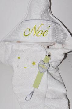 baby box: cape de bain / sortie de bainattache-tétine bébé