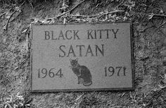 Satan, grave at the Sea Breeze Pet Cemetery, Huntington Beach, CA taken by QsySue
