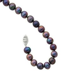 Black Freshwater Cultured Pearl Bracelet 7-8mm - Item QH4835_7.25 | REEDS Jewelers