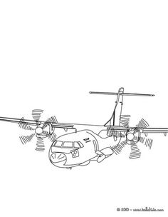 free airplane coloring pages cockpit - photo#18