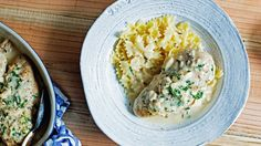 Slow-Cooker Creamy Garlic Chicken This creamy chicken dish (made easy in a slow cooker) is a garlic lover's dream!