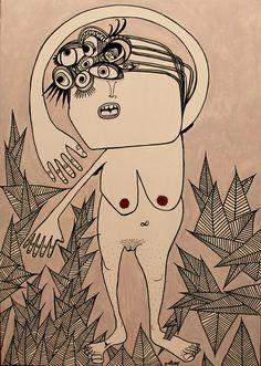 Pinturas feminismas, gritos de mujer sobre lienzo, madera, papel. Obra pictórica de p.nitas*