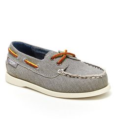 Gray Alex Boat Shoe #zulily #zulilyfinds