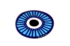 Plexiglass coasterScreenprinted & lazer cuttedDimensions cmDesigned & made in Greece Placemat, Evil Eye, Screen Printing, Greece, Polka Dots, Eyes, Heart, Tableware, Handmade